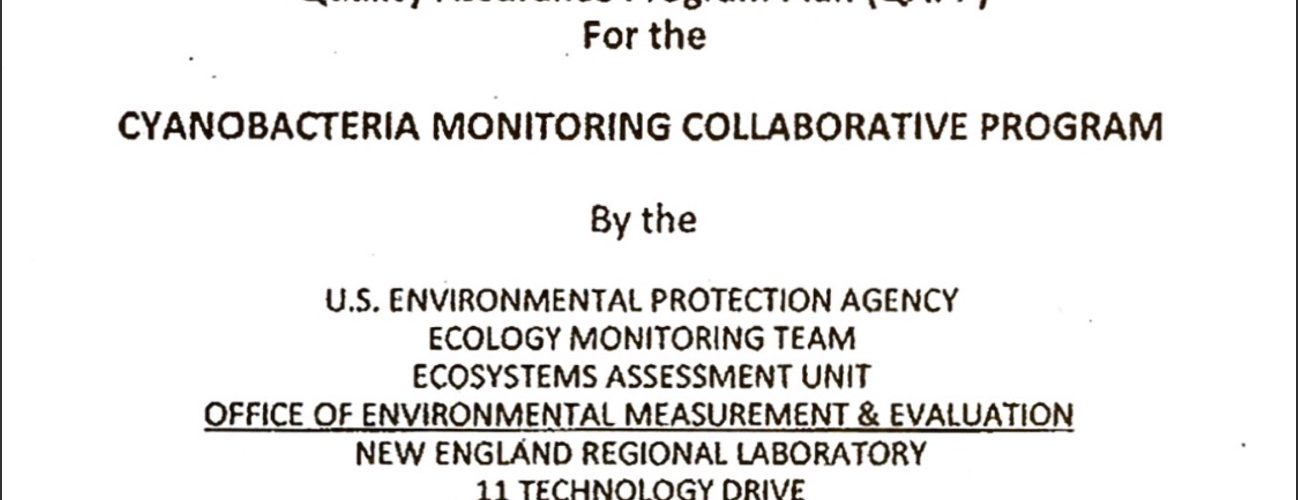 Cyanobacteria Monitoring Collaborative draft methods (QAPP) released