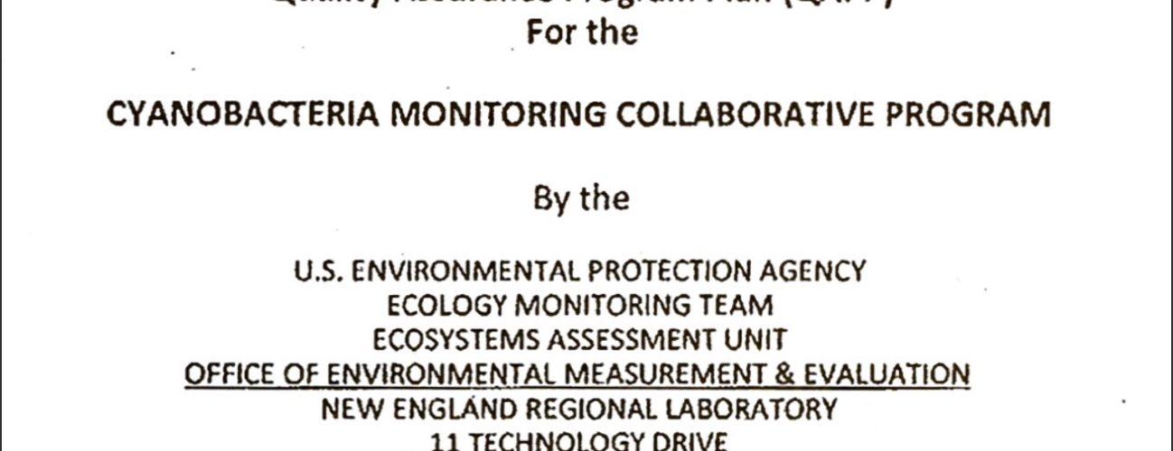 Cyanobacteria Monitoring Collaborative draft methods (QAPP) released